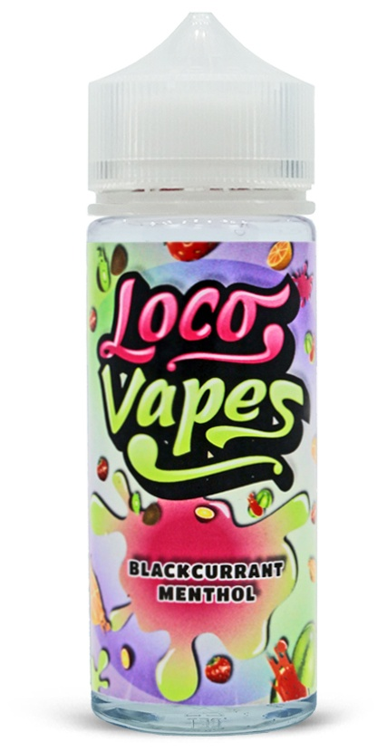 Blackcurrant Menthol Loco Vapes 100ml