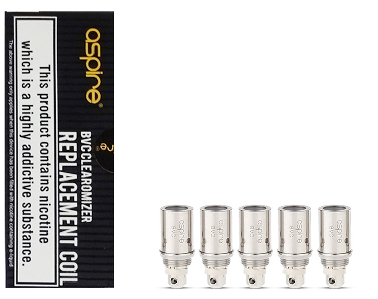 Aspire BVC Clearomizer Coil 1.8 ohm-Pack of 5