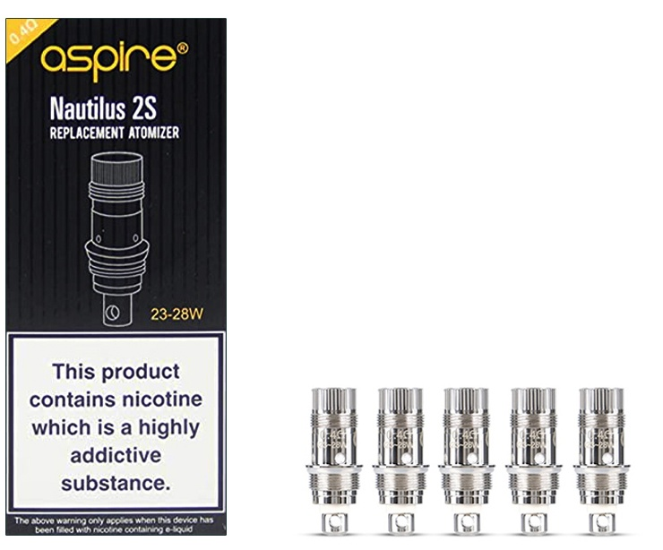 Aspire Nautilus 2s Atomizer Coil 0.4 ohm-Pack Of 5