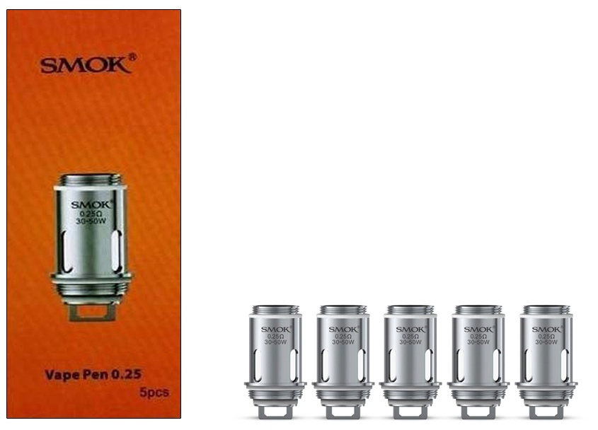 Smok Vape Pen Dual Coil 0.25 ohm-Pack Of 5