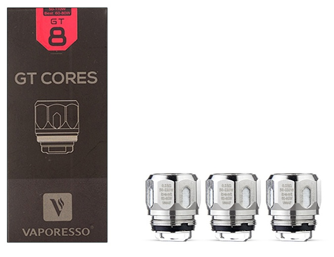 Vaporesso GT Cores GT Mesh Coil 0.18 ohm-Pack Of 3